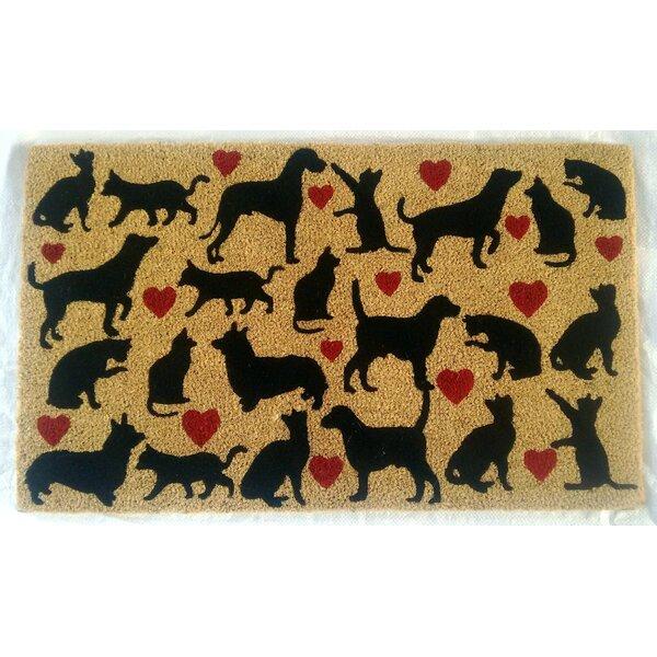 Pugliese Dog & Cat Lovers Doormat by Winston Porter