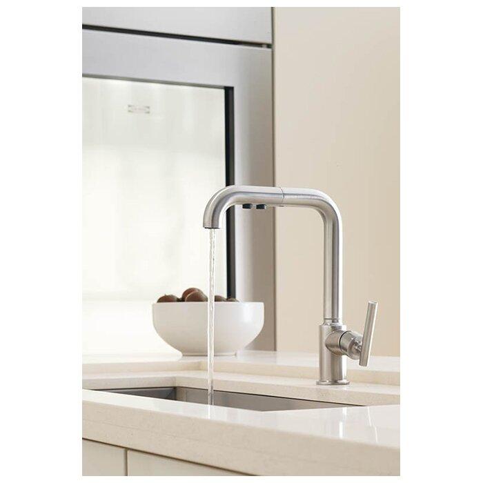 Kohler Purist Single Hole Kitchen Sink Faucet With 8 Pullout Spout