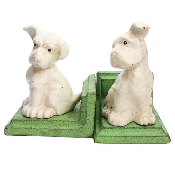 Puppy Bookends (Set of 2) by Winston Porter