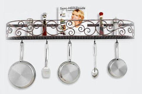 Authentic Iron Wall Mounted Pot Rack by Hi-Lite
