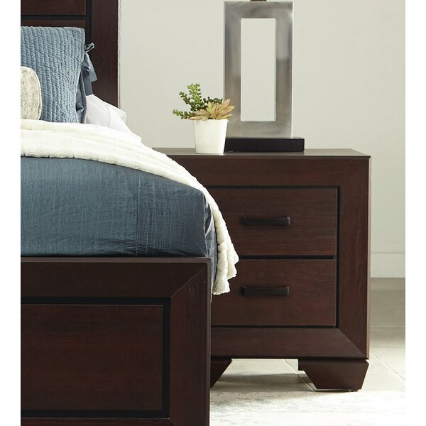 Nova 2 Drawer Nightstand by Orren Ellis