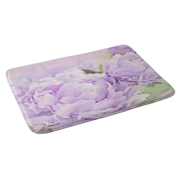 Lisa Argyropoulos Lavender Peonies Floral Bath Rug