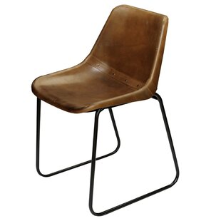 Tiffaney Leather Side Chair by Williston Forge