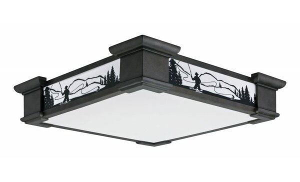 Motifs 1-Light 55W Flush Mount by Lithonia Lighting