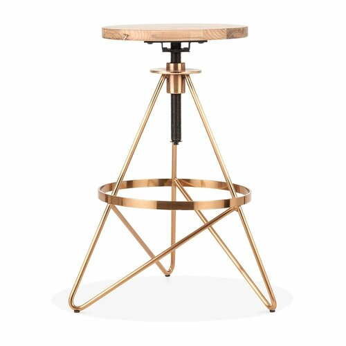 Höhenverstellbarer Barhocker Huddleston Hendrix LoftDesigns Farbe (Gestell): Messing | Küche und Esszimmer > Bar-Möbel | LoftDesigns