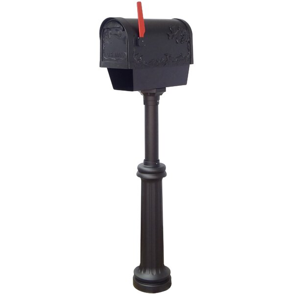 Hummingbird Curbside Mailbox with Bradford Post Included by Special Lite Products