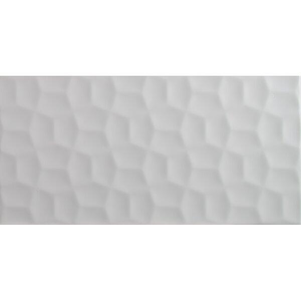 Adella Viso 12 x 24 Ceramic Field Tile in White by MSI