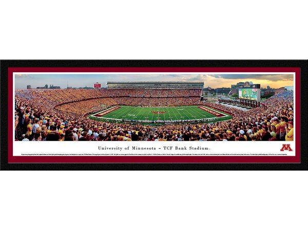 NCAA Minnesota, University of - Football by Robert Pettit Framed Photographic Print by Blakeway Worldwide Panoramas, Inc
