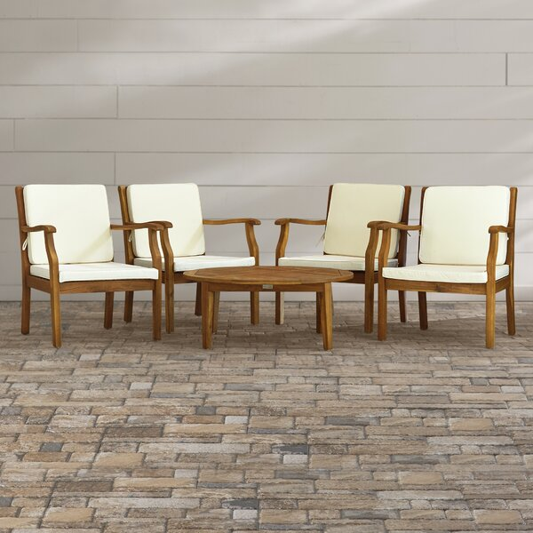 Atia 5 Piece Multiple Chairs Seating Group with Cushions by Highland Dunes