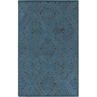 Reviews Enkhuizen Hand-Woven Blue Area Rug ByBungalow Rose