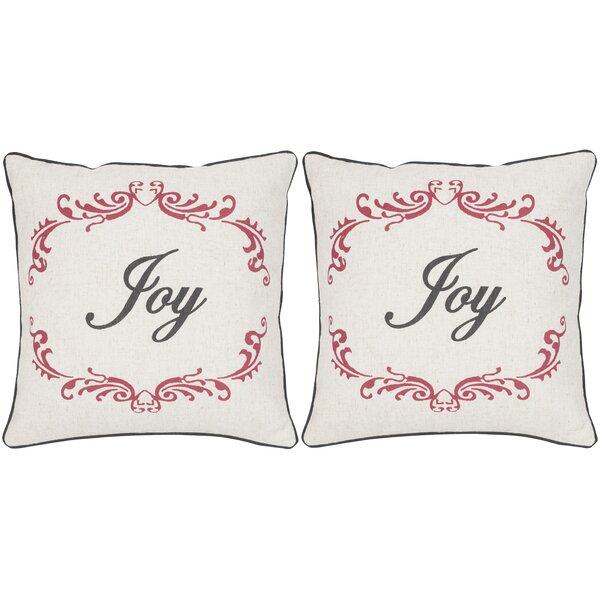 Joy Throw Pillow (Set of 2) by Safavieh