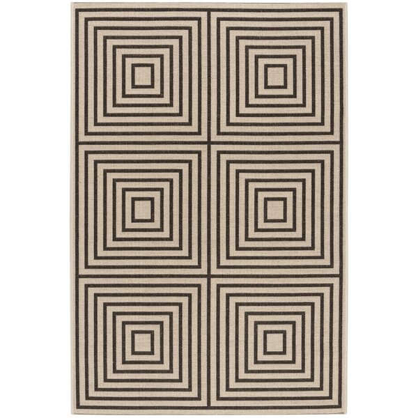 Horne Creme/Brown Area Rug by Brayden Studio