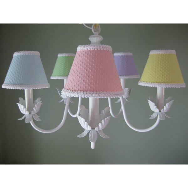 Ooh Baby Baby 5-Light Shaded Chandelier Classic / Traditional Chandelier by Silly Bear Lighting Silly Bear Lighting