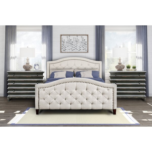 Prieto Tufted Camelback Upholstered Platform Bed by Canora Grey