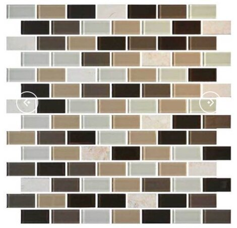 Gibson 12 x 13 Mixed Material Mosaic Tile in Zen Escape by Itona Tile