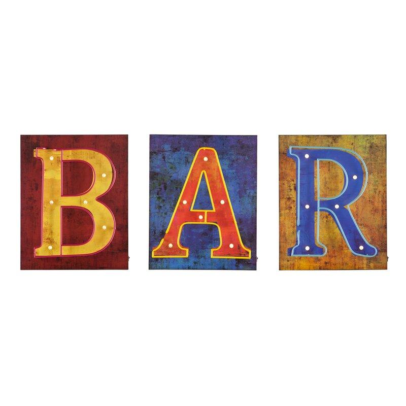 3 Piece Bar Marquee Sign