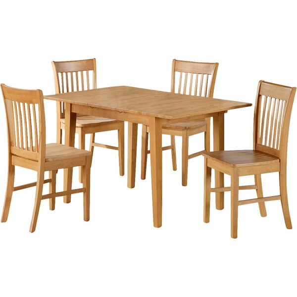 Balfor 7 Piece Extendable Solid Wood Breakfast Nook Dining Set by Andover Mills Andover Mills