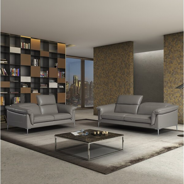 France Leather Configurable Living Room Set by Orren Ellis