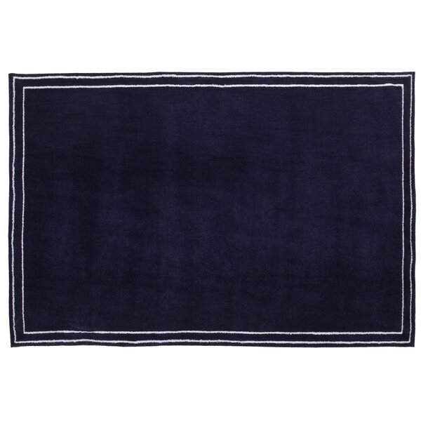 Plush Border Blue Area Rug by Little Love by Nojo