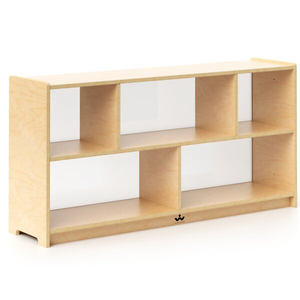 Preschool Storage Portable 3 Compartment Classroom Cabinet by Whitney Brothers
