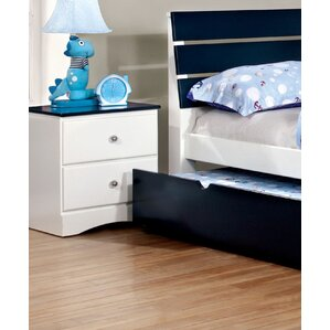 Cristina 2 Drawer Nightstand by Zoomie..