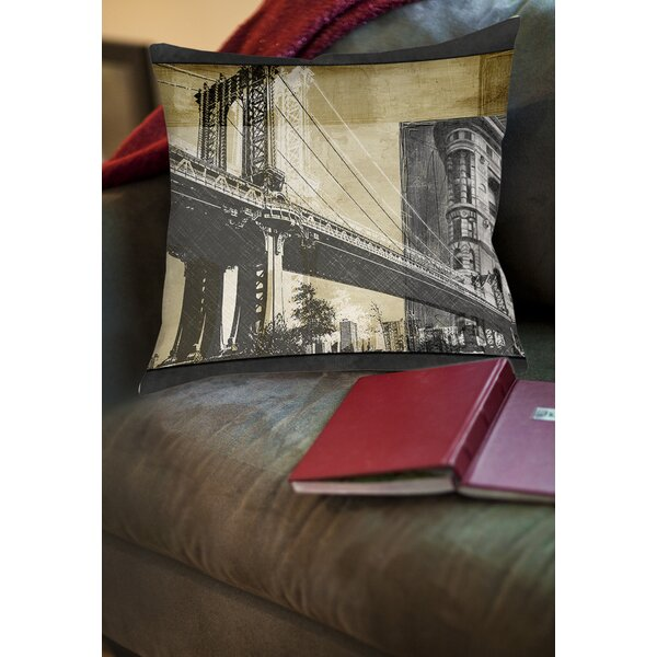 Metropolitan Collage 2 Printed Throw Pillow by Manual Woodworkers & Weavers