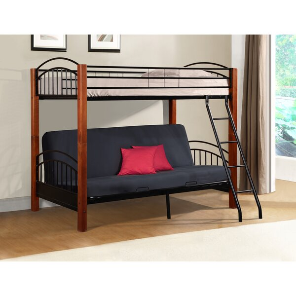 Hermina Metal and Wood Twin Bunk Bed by Harriet Bee