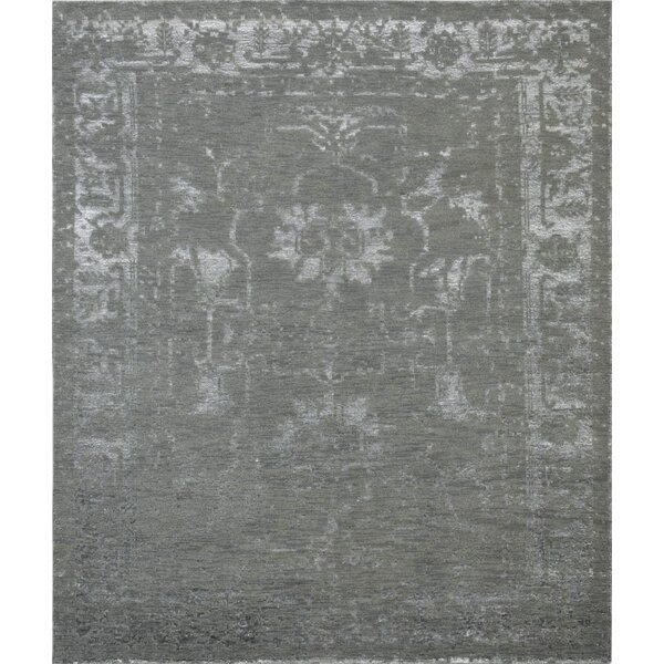 Hand-Knotted Olive Area Rug by Pasargad