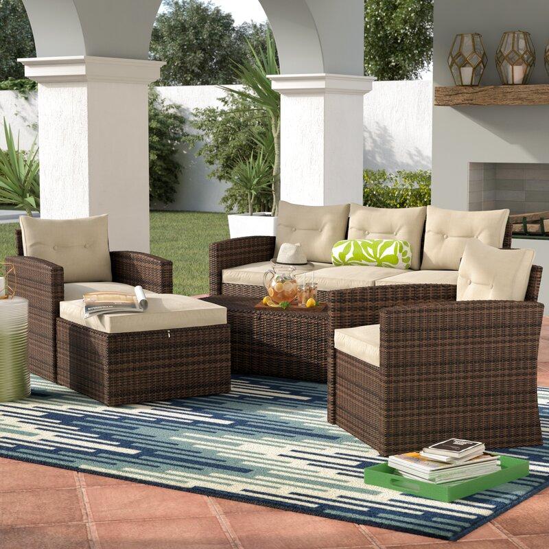 Sanor 5 Piece Sofa Set With Cushions
