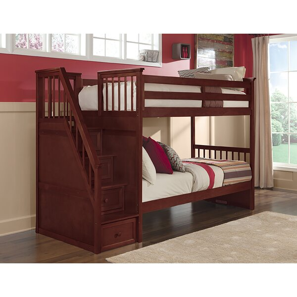 Radley Twin Over Twin Bunk Bed with Drawers by Harriet Bee