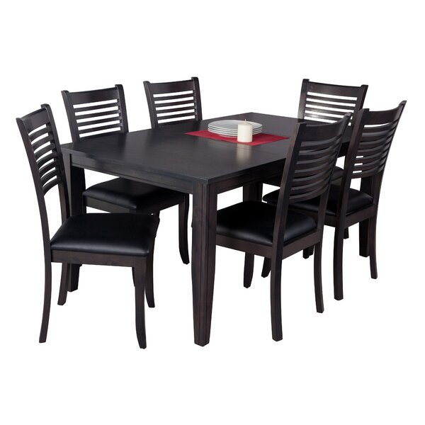 Haan Traditional 7 Piece Solid Wood Dining Set by Red Barrel Studio