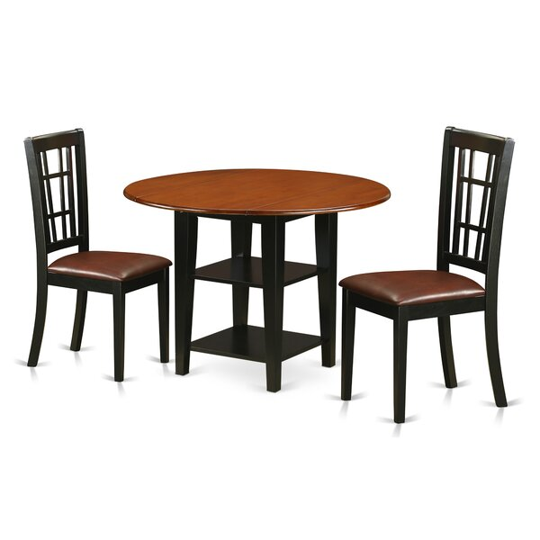Best Choices Tyshawn 3 Piece Drop Leaf Breakfast Nook Solid Wood Dining Set By Charlton Home Great Reviews