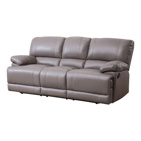 Loper Leather Reclining Pillow Top Arms Sofa By Red Barrel Studio