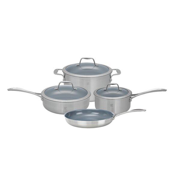 Spirit 7 Piece Non-Stick Stainless Steel Cookware Set by Zwilling JA Henckels
