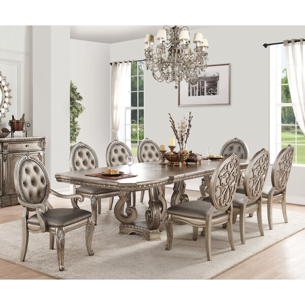Leanos 9 Piece Dining Set by Rosdorf Park