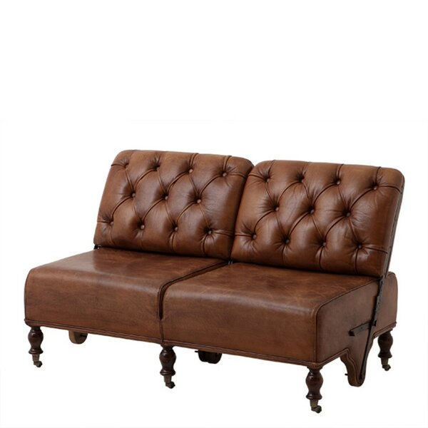 Tete Leather Reclining Loveseat by Eichholtz