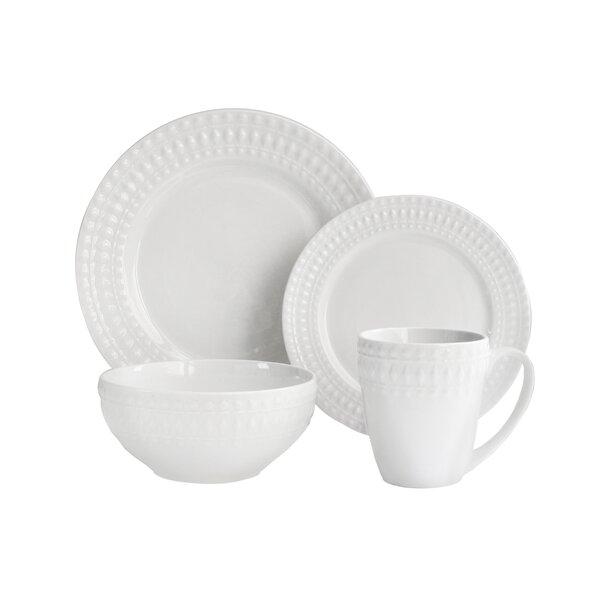 Amelie 16 Piece Dinnerware Set, Service for 4 by Elle Decor