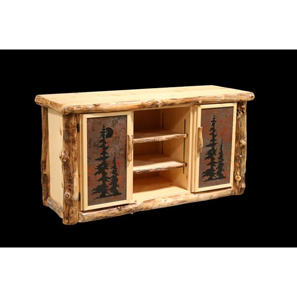 Amias Buffet Table with Tiled Doors by Millwood Pines Millwood Pines