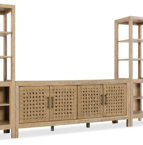 Wabi Sabi Woven Door 74 TV Stand by Hooker Furniture