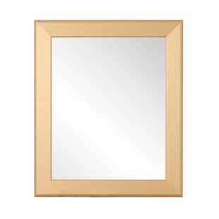 Charlton Home Hornell Gold Grain Wall Mirror
