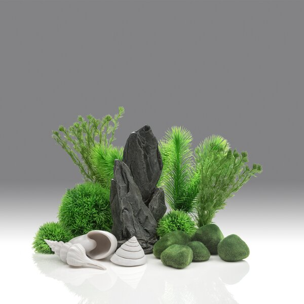 8 Gallon Stone Garden Aquarium Kit by biOrb