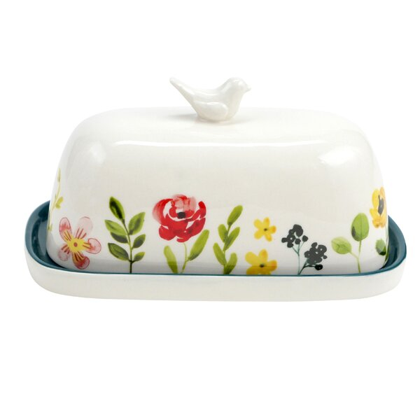 Heeter Floral Accent Butter Dish by Hallmark Home & Gifts