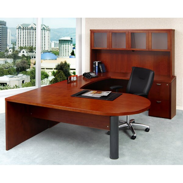 Mira Series 5-Piece U-Shape Desk Office Suite by Mayline Group