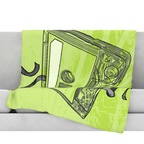 Mixtape Fleece Throw Blanket by KESS InHouse