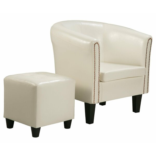 Kay Barrel Chair and Ottoman by Mercer41