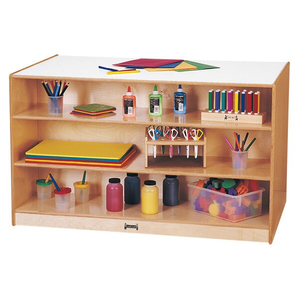 Island Double Side 14 Compartment Cubby with Trays