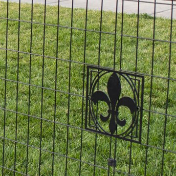 Fleur-De-Lis Decorative Fence Emblem by YardGard Select