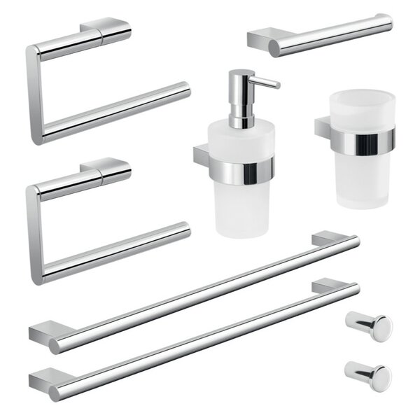 Canarie 9 Piece Bathroom Hardware Set by Gedy by Nameeks