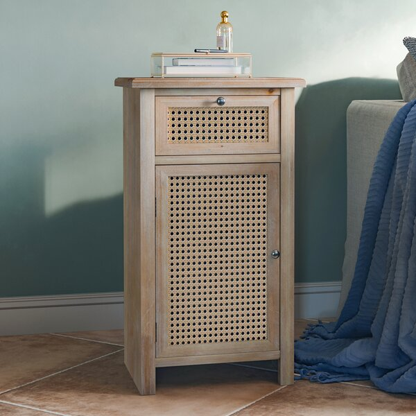 Aridai Sled End Table With Storage By Bloomsbury Market