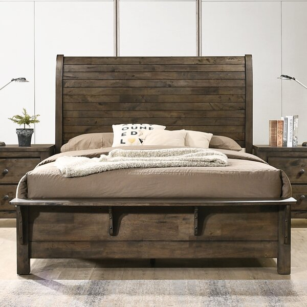 Teignmouth Sleigh King Standard Bed by Three Posts